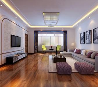 现代简约-154平米三居室装修样板间
