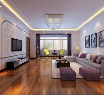 现代简约-154平米三居室-装修样板间