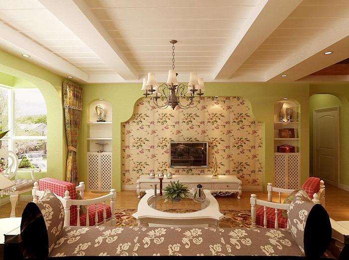 田园风格-121平米二居室-装修样板间