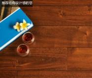 大自然A0002P大叶相思手刮仿古纯实木地板图片