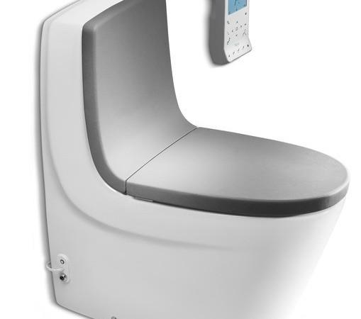 酷玛智能普通连体座厕-银灰阻尼 乐家卫浴