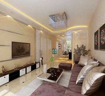 现代简约-122.49平米二居室-装修样板间
