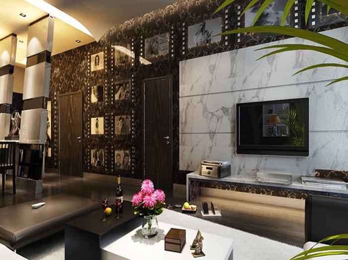 后现代-150平米二居室-装修样板间