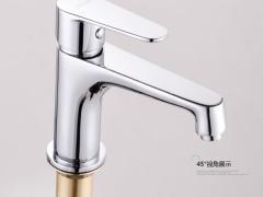 安华卫浴ea1D4664C浴室柜面盆龙头