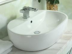 安华卫浴ea4334A方形台上艺术盆 洗脸盆