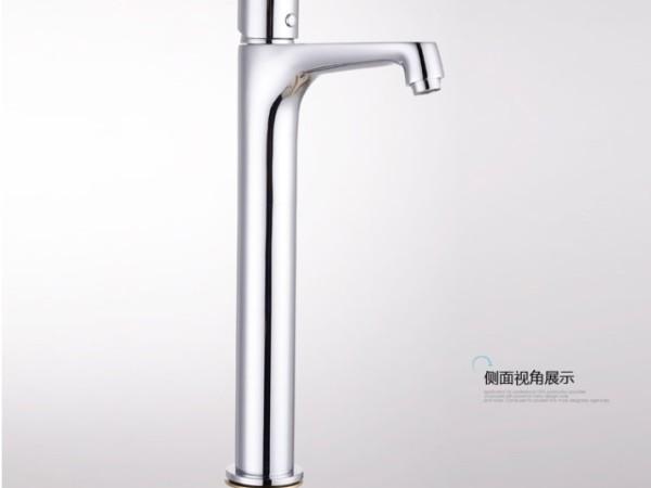 安华卫浴ea1J4664C卫生间高杆全铜冷热水龙头