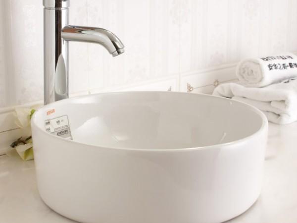 安华卫浴aP4312C浴室卫生间陶瓷洗手盆台上盆