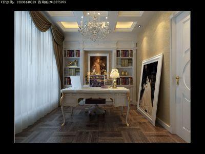 欧式风格-149.92平米三居室装修样板间