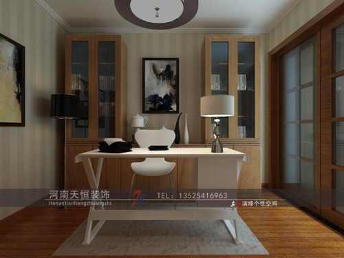 中式古典-143平米三居室-装修样板间