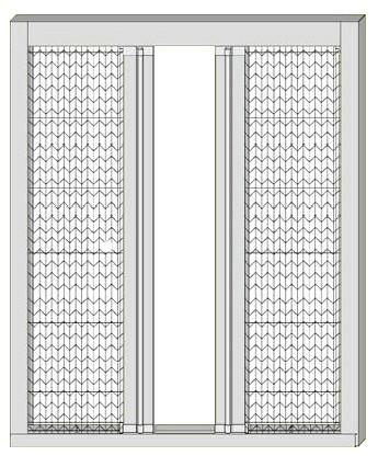 意美达牌对碰折叠定位纱门