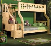七彩人生 儿童梯柜高低实木子母床S2-BH1042图片