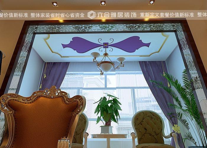 西式古典-120平米三居室-装修样板间