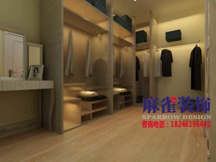 混搭风格-137平米三居室-装修样板间