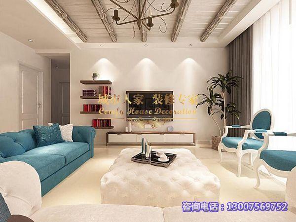 东南亚风格-130平米三居室-装修样板间