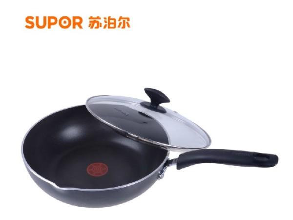 苏泊尔EJ1228P02 火红点无油烟深型 煎锅 炒锅