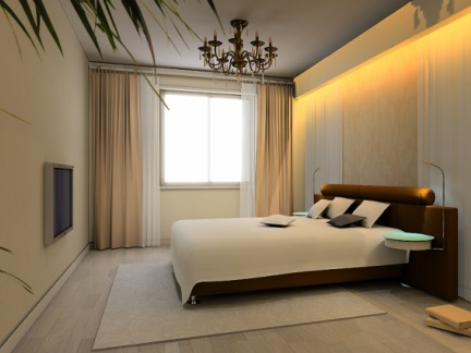 简欧风格跃层卧室装修效果图大全图片
