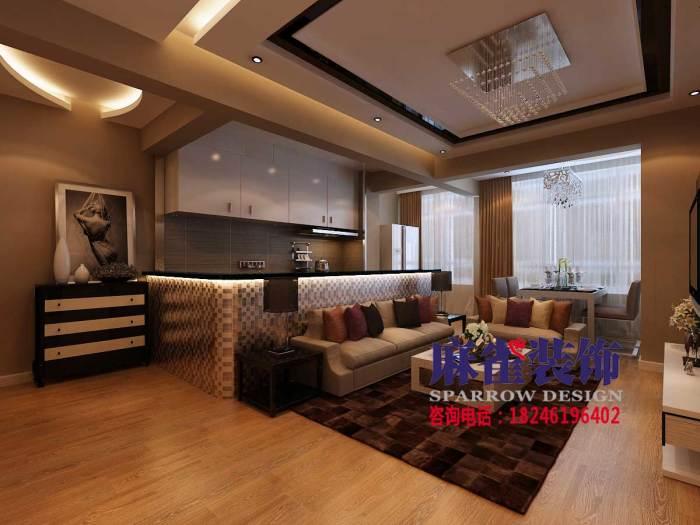 现代简约-47.21平米二居室-装修样板间