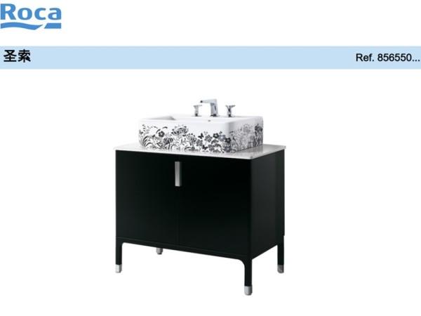 圣索家具柜 双门式(黑色) 乐家浴室柜