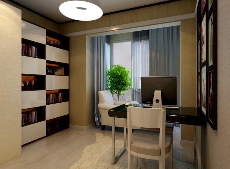 现代简约100平米三居室装修效果图 高清图片