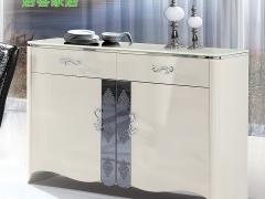 居客餐边柜白色烤漆时尚高档 储物柜客厅边柜 大理石 D201