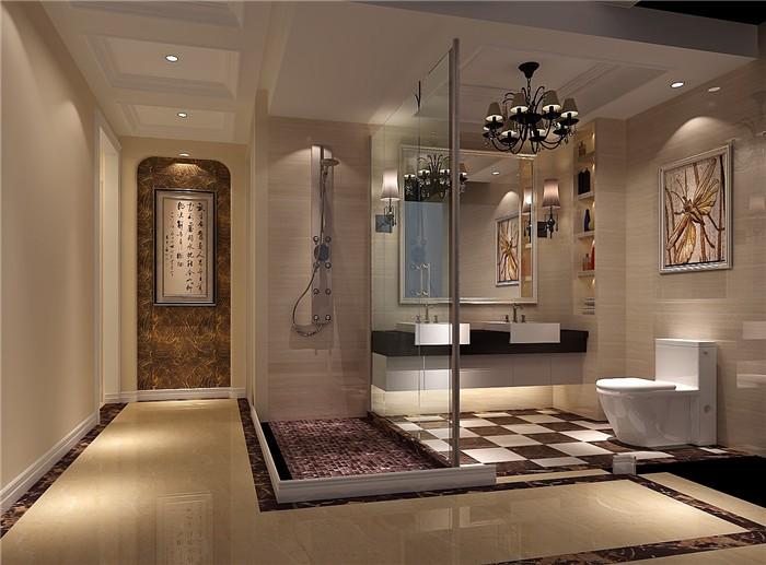 欧美风情五居室卫生间装修图片