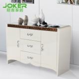 居客 餐边柜 白色 现代简约 两门三抽屉 储物柜 D202图片