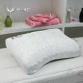 穗宝枕头 PL-M06 护颈曲线型乳胶枕 按摩护颈防螨
