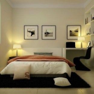 现代简约四居室装修效果图