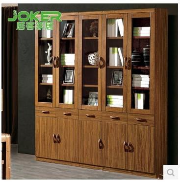 居客新中式书柜虎斑木色饰品柜实木书柜自由组合书柜802