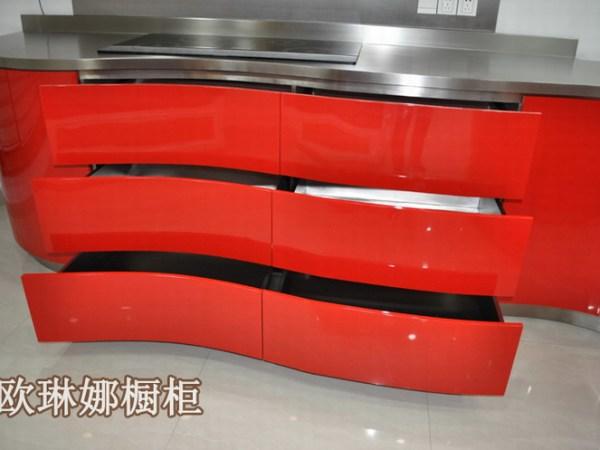 上海欧琳娜不锈钢橱柜公司非标定制纯不锈钢整体橱柜