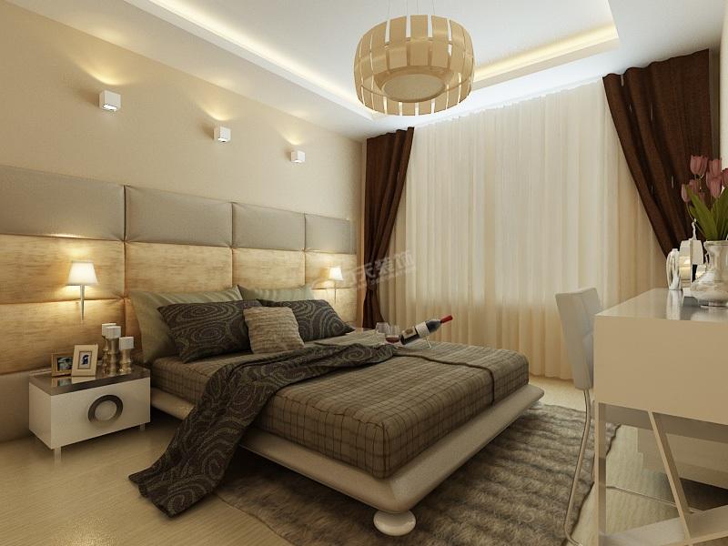 88平米现代简约二居室装修效果图高清图片
