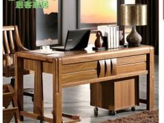 居客 现代中式实木家具 虎斑木写字台 中式办公书台书桌801