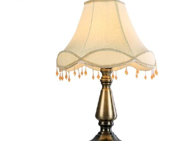 伦灯灯饰 欧式仿古台灯卧室客厅床头灯具TD8665
