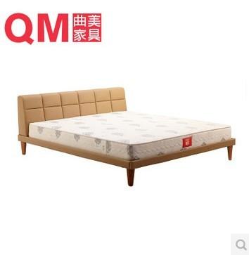 曲美品牌皮床 时尚现代1.5 1.8米双人床