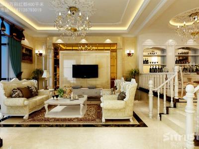欧美风情-400平米别墅装修设计