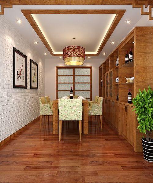 新中式三居室厨房餐桌装修效果图大全2014图片图片