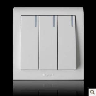 开关插座TCL罗格朗 K5经典系列开关面板三位单控带灯开关