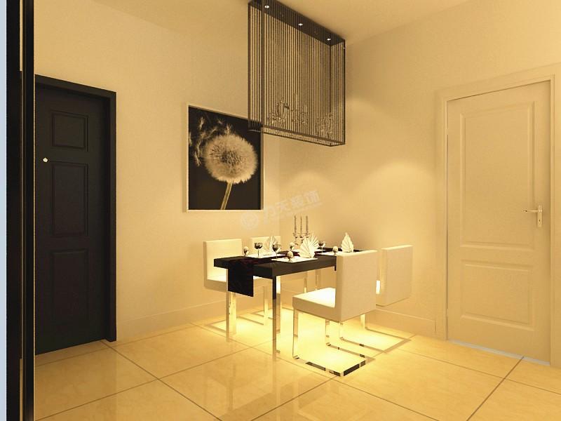 餐桌装修效果图 现代简约二居室餐厅餐桌装修效果图高清图片