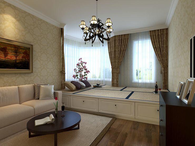 三房两厅装修效果图 欧美风情三居室客厅装修效果图 高清图片