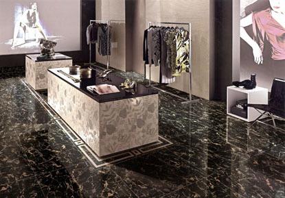 马可波罗瓷砖 黑金花系列 地面 釉面砖 600*600