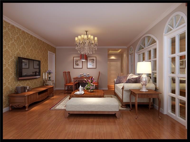 简欧风格三居室客厅装修效果图 高清图片