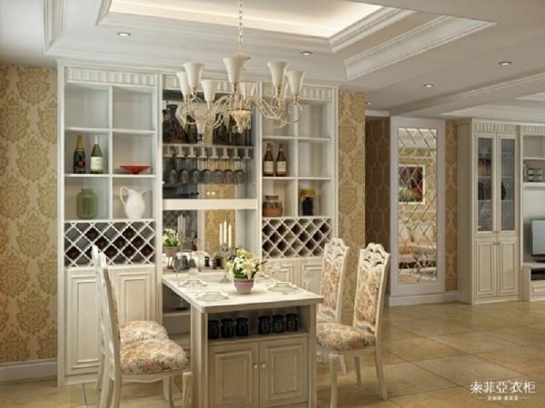 索菲亚衣柜903S暖白色餐桌