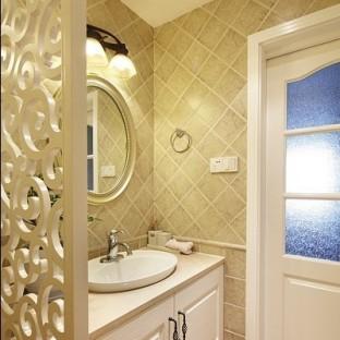 卫生间淋浴隔断墙图片-搜房网装修效果图