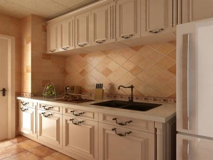 美式乡村二居室厨房装修效果图图片