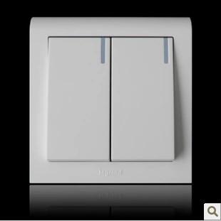 TCL罗格朗开关插座面板 K5经典系列二位双控开关K5/32