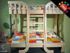 6月1号家具L21A松木子母床