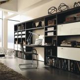 玛格定制家具 板式书柜