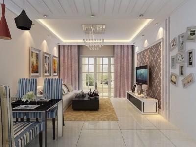 现代简约-97平米二居室装修设计