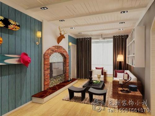 混搭风格-80平米二居室-装修样板间