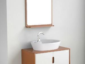 安华卫浴 eaPCM4380实木浴室柜 悬挂式台上盆
